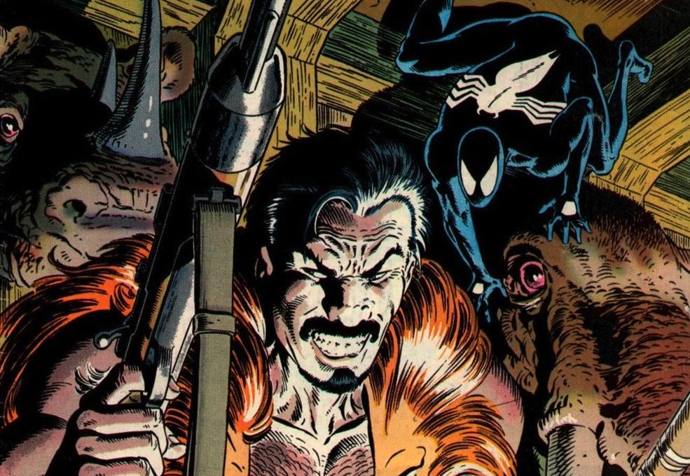 Panel detail from Spider-Man: Kraven's Last Hunt. Art by Mike Zeck. Marvel Comics.