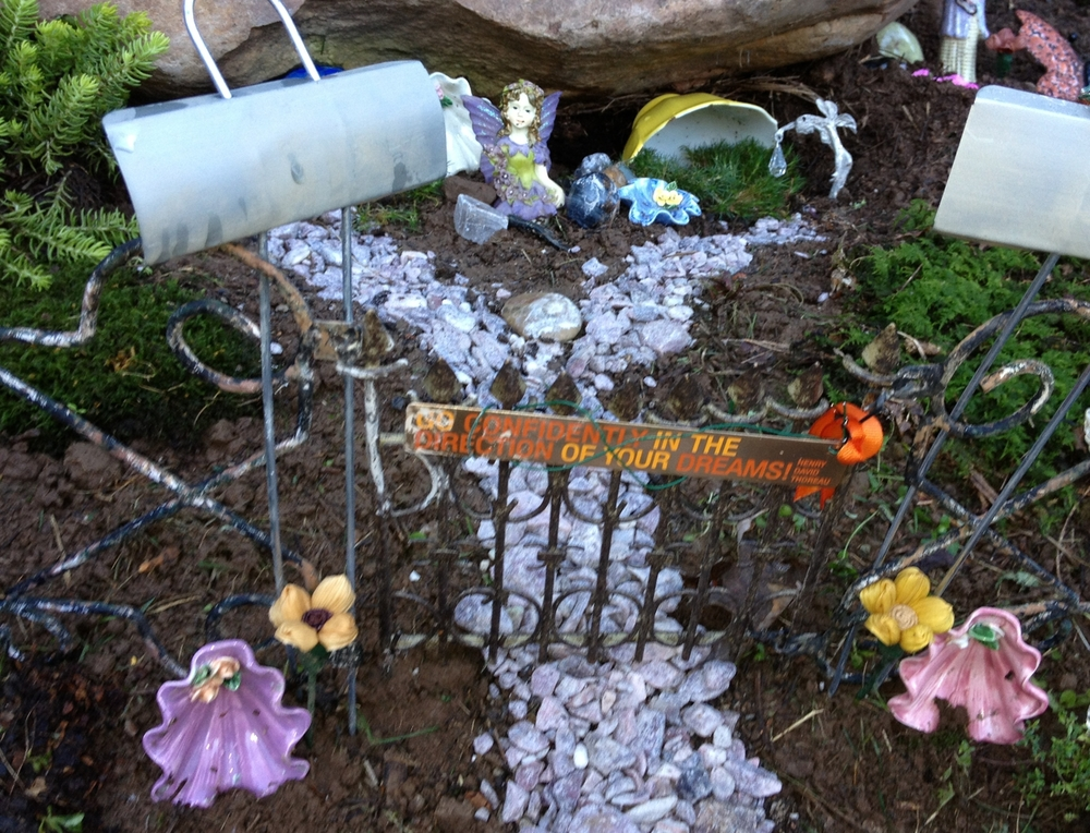 As the fairy garden directs, walk confidently in the direction of your dreams. Now, which way was that again?