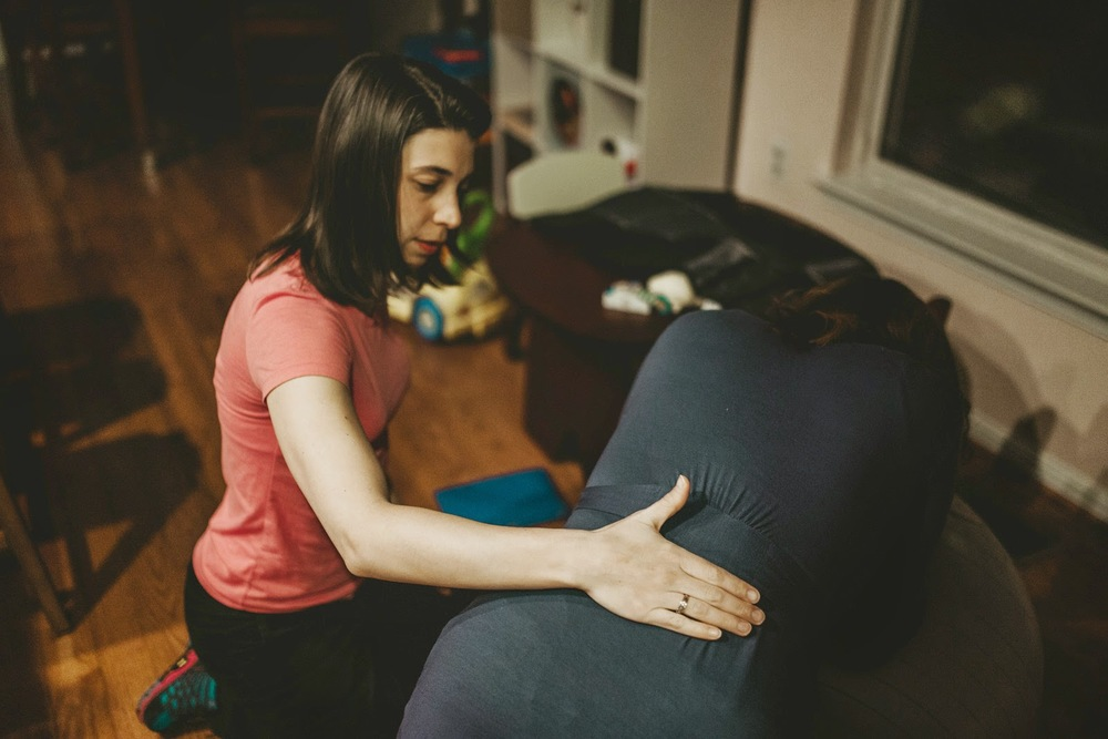 Offer labor support like massage...