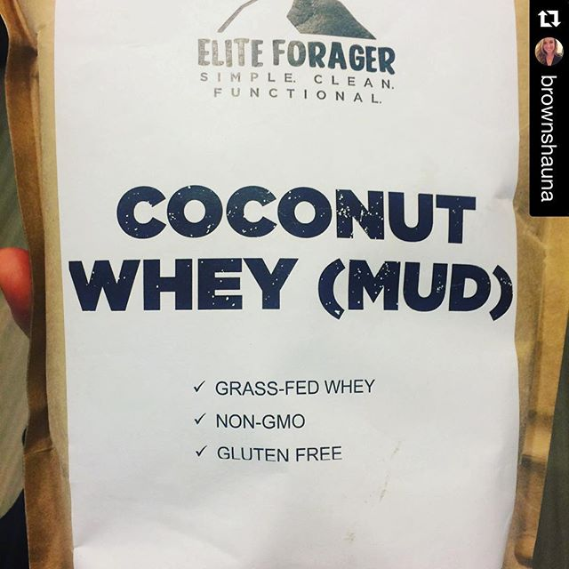 #Repost @brownshauna ・・・ My current obsession. @eliteforager Coconut Whey (Mud). When mixed with water it is the smoothest and tastiest protein powder I've ever had! #proteinpowder #nojunkadded #nogmo #clean #glutenfree #grassfedwhey #maximizegains #replacementwithoutsacrifice #cleaneating #simplenutrition #functionalfuel #wheyprotein #eliteforager