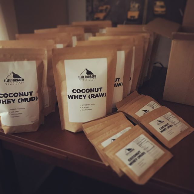 Just finished a fresh batch of Coconut Whey!  This batch is already gone so get yours before it's too late...(like today or tomorrow would be great because people love this stuff.) #whey #eliteforager #cleaneating #simple #functionaltraining #exercise #fitness #minimal #outdoors #mountains #backpacking #camping #overland