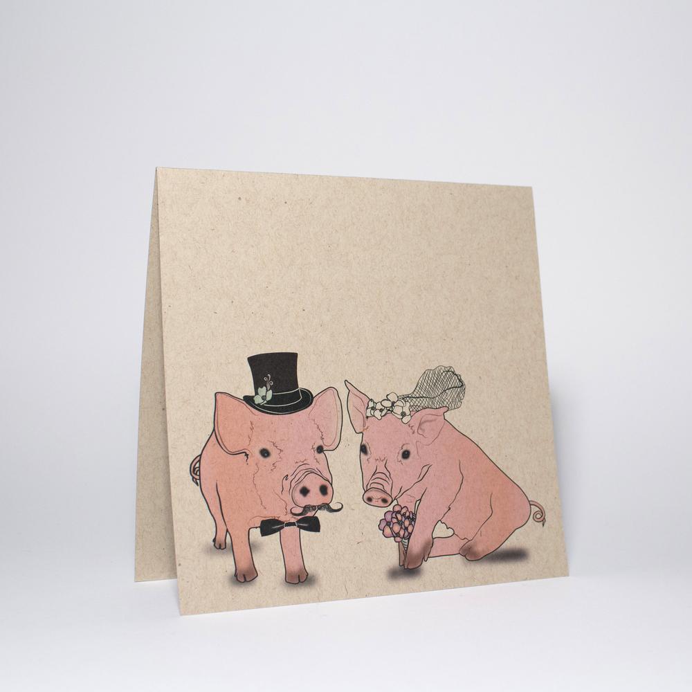Bride Groom, cute pigs
