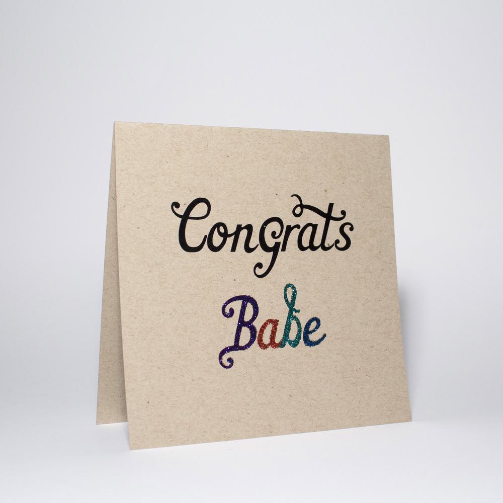 Congrats babe