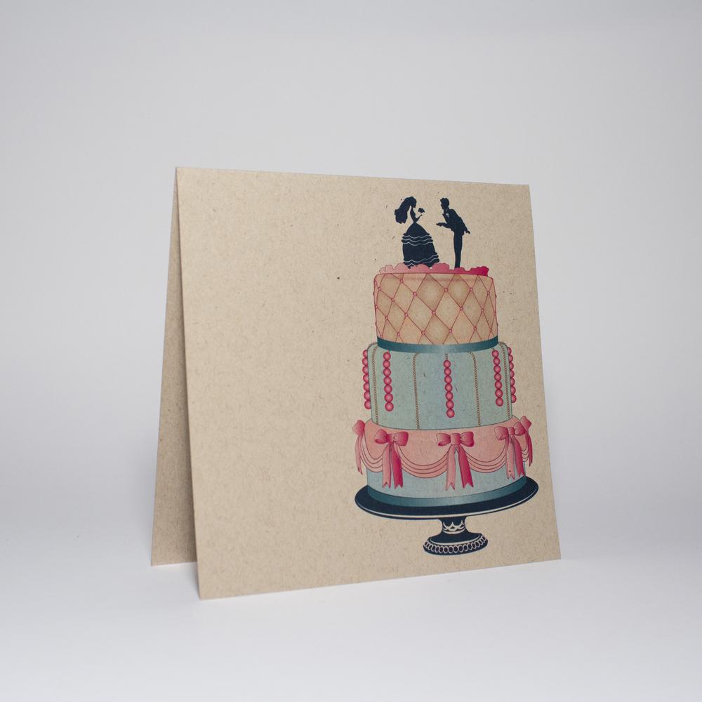 Wedding cake (pink bows)