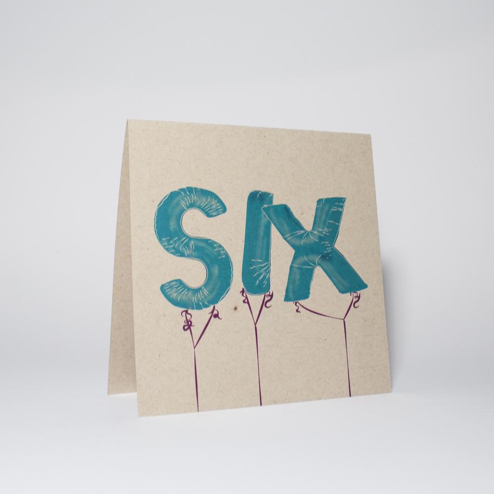 SIX balloons