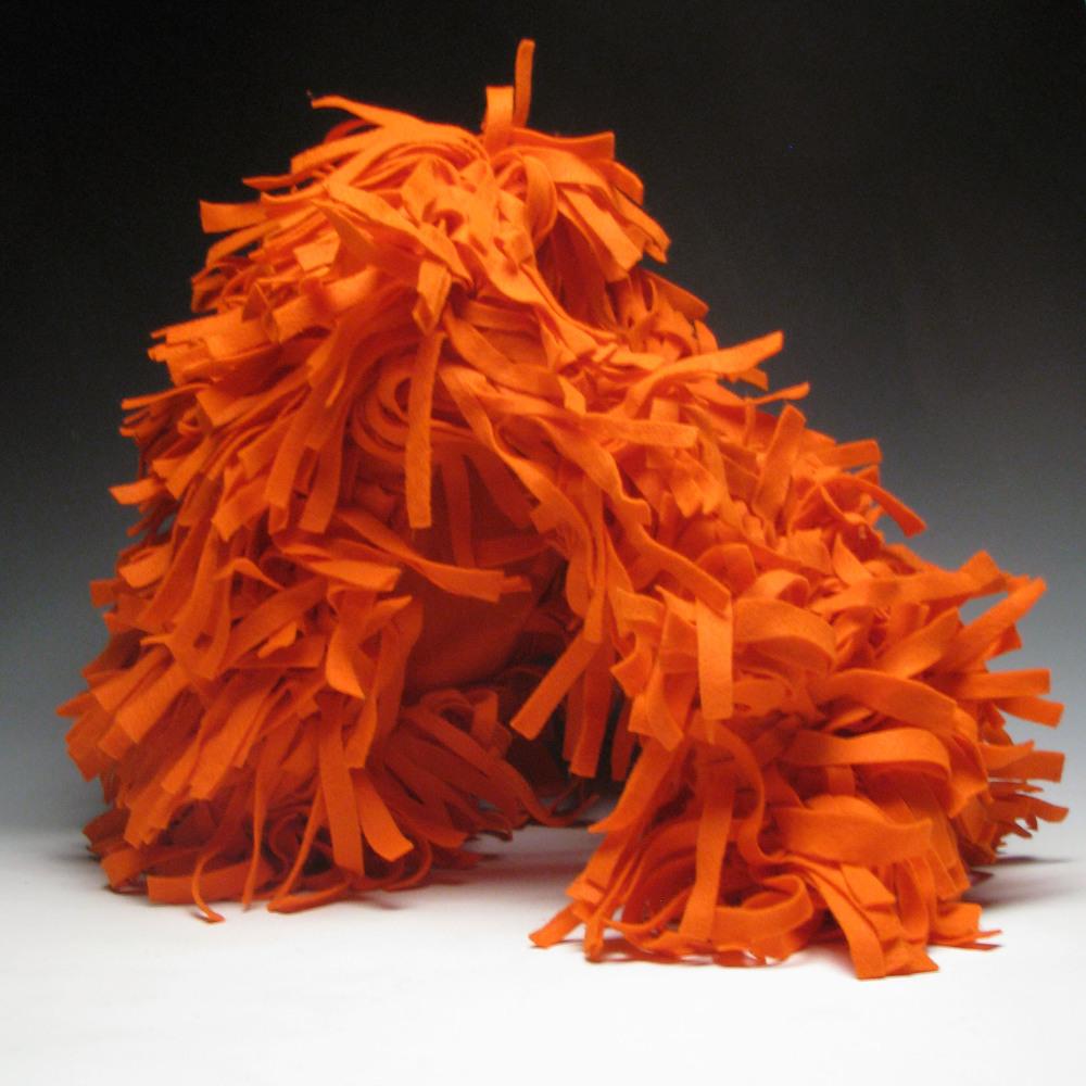 Orange Beard Helmet