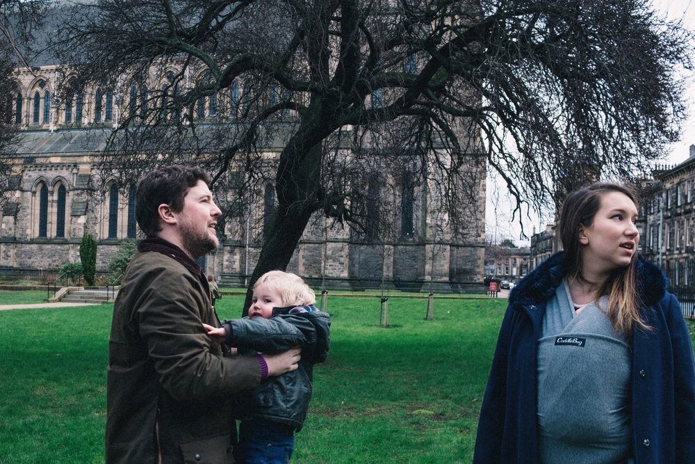 Family in Edinburgh park