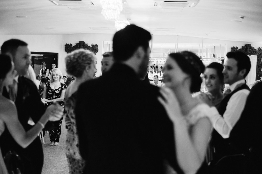 Guests watches first dance of bride and groom