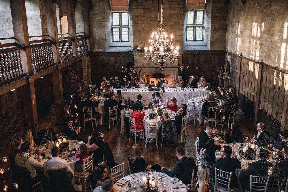 Wedding breakfast at Achnagairn Estate