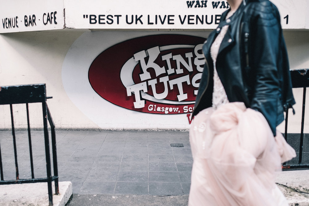 Bride walks past King Tuts