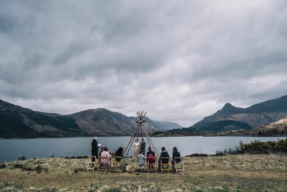 Outdoor wedding ceremony, Glencoe