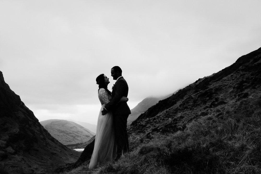 Bride + groom silhouette