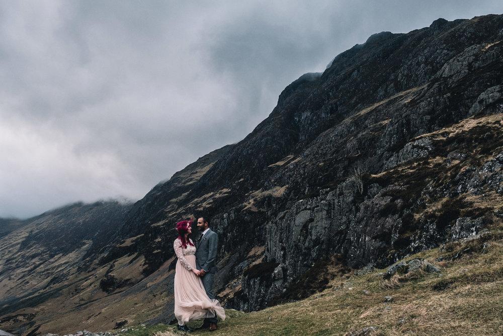 Bridal dress swept by wind