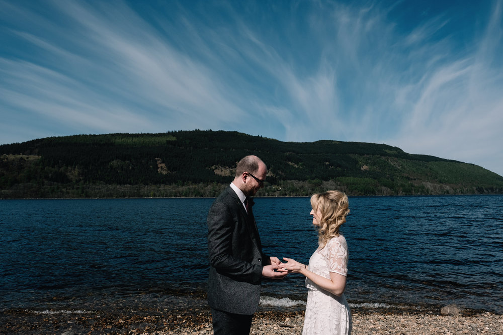 exchange of vows by loch side