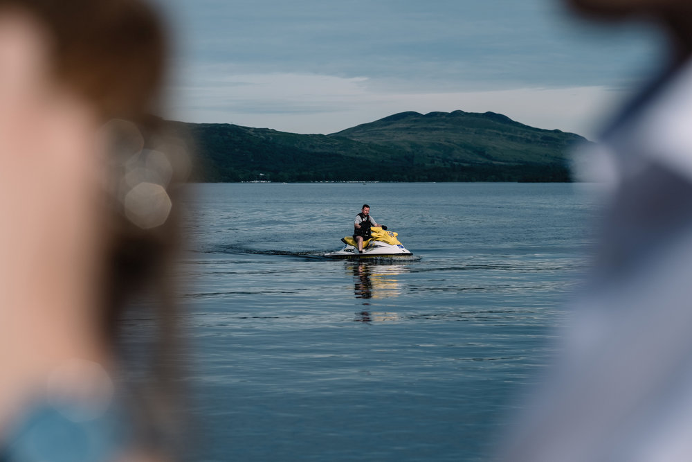 Jet skier on Loch Lomond