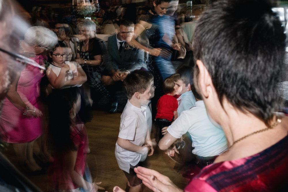 Movement on busy dancefloor