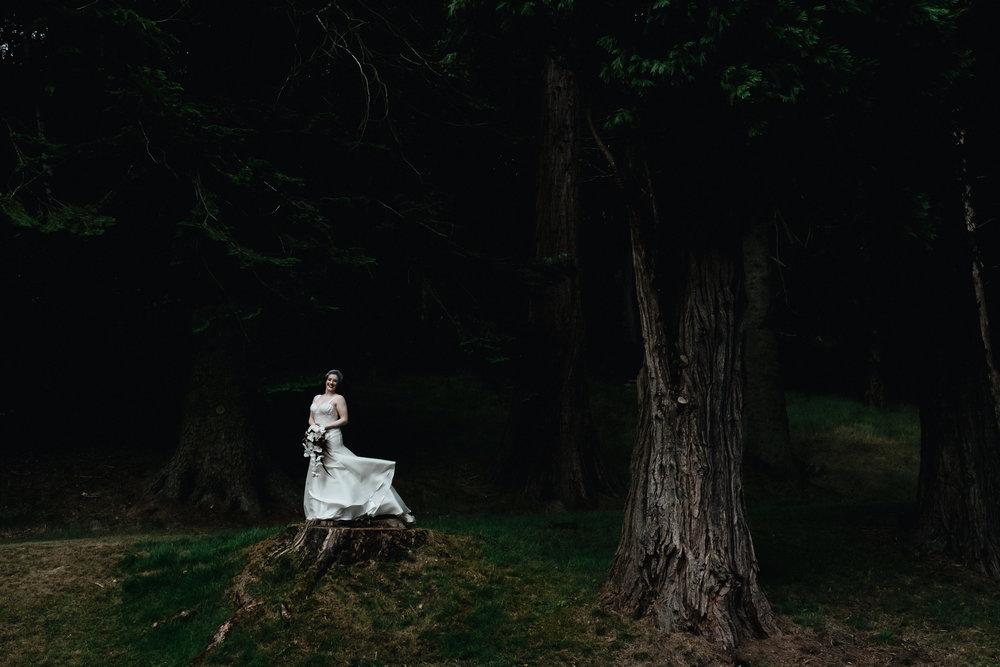 Bride in forrest
