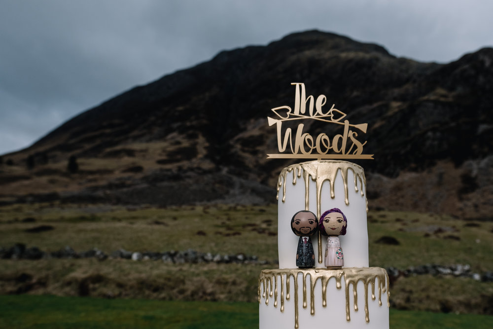 Venue: Glencoe Elopement | Cake:  Emmazing Creations