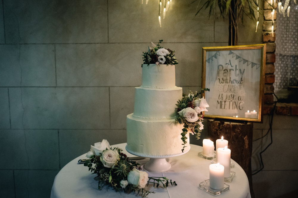 Cake: Bride's Friend, Clare Moore | Venue:  Grace Hall