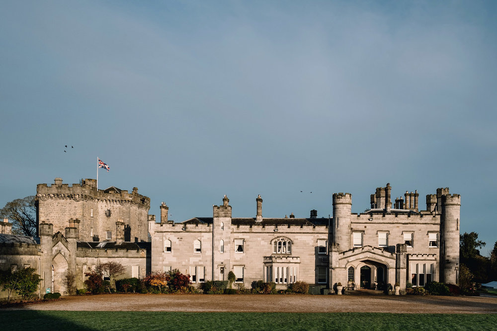 Dundas Castle on a winter Wedding day