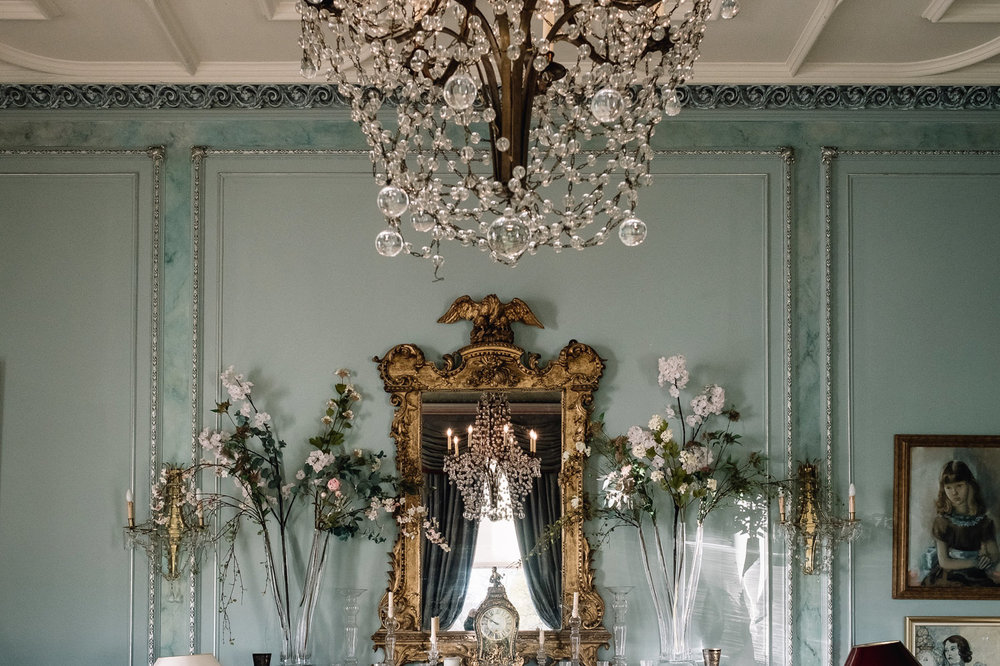 Dundas Castle Wedding chandalier