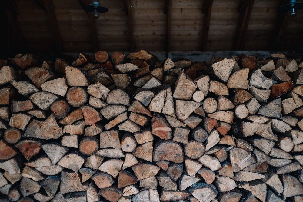 Wood pile for Killiehuntly Farmhouse and Cottage.