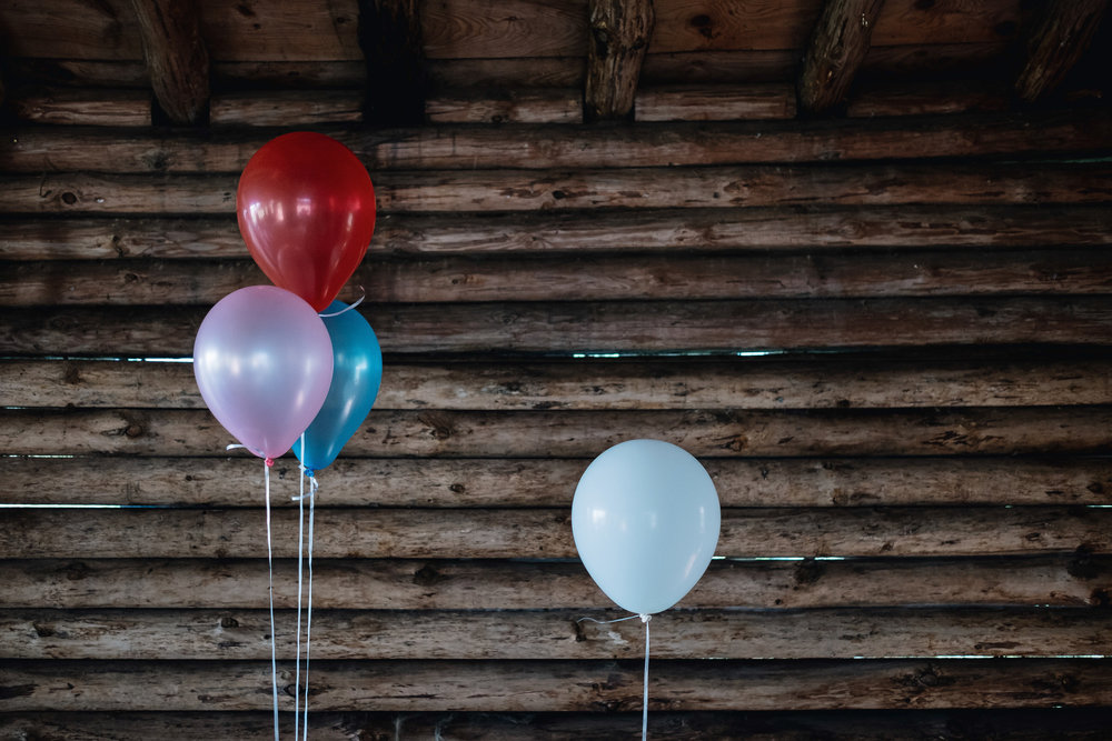 Coloured ballons hanging