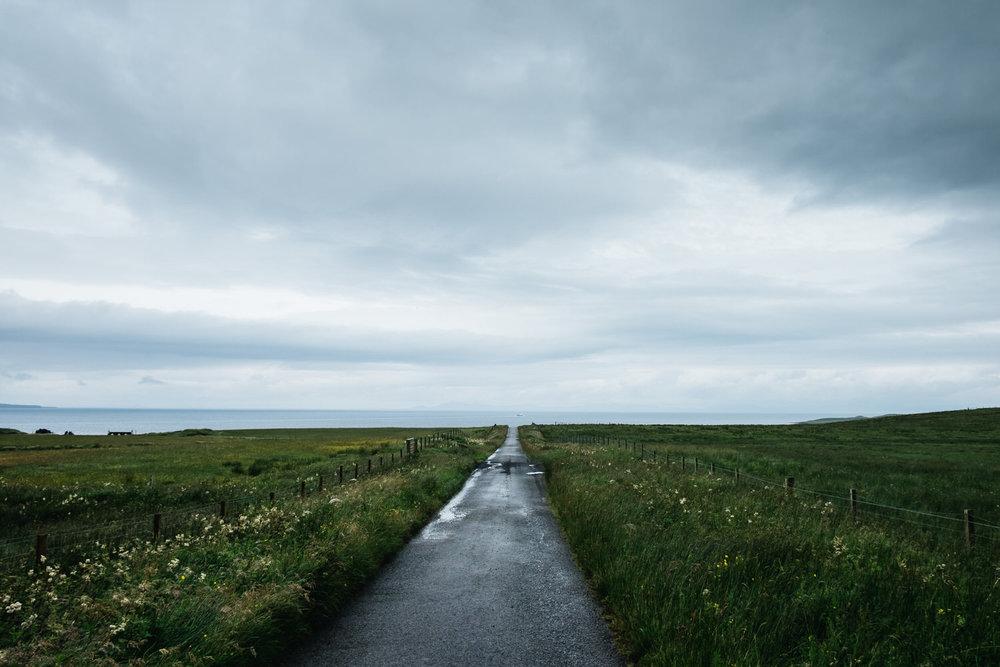 A road on the island of Skye.