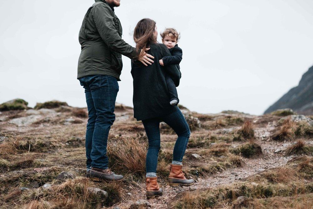 Family walking in Glencoe