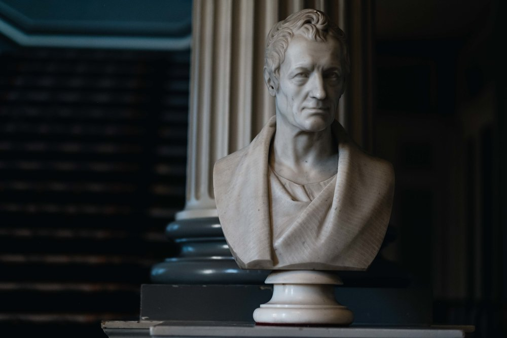bust in Signet Library