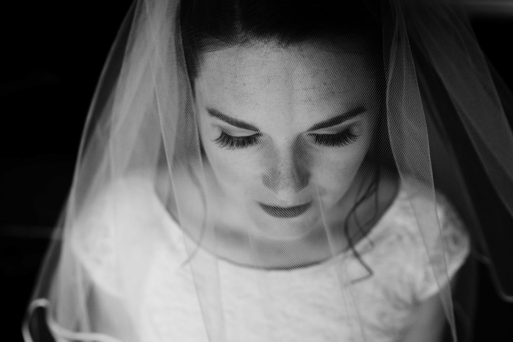 bridal portrait from an ariel perspective