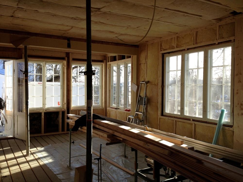 Stue ,vegger etter isoleres