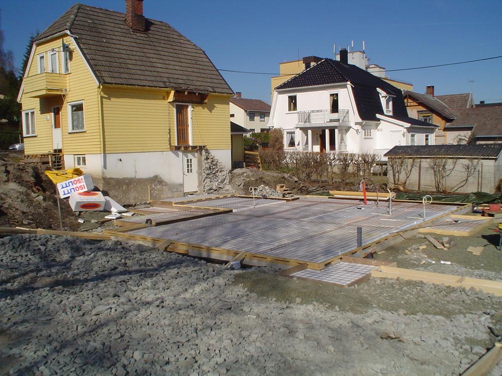Tilbygg Porsgrunn 2006  Klar for støping