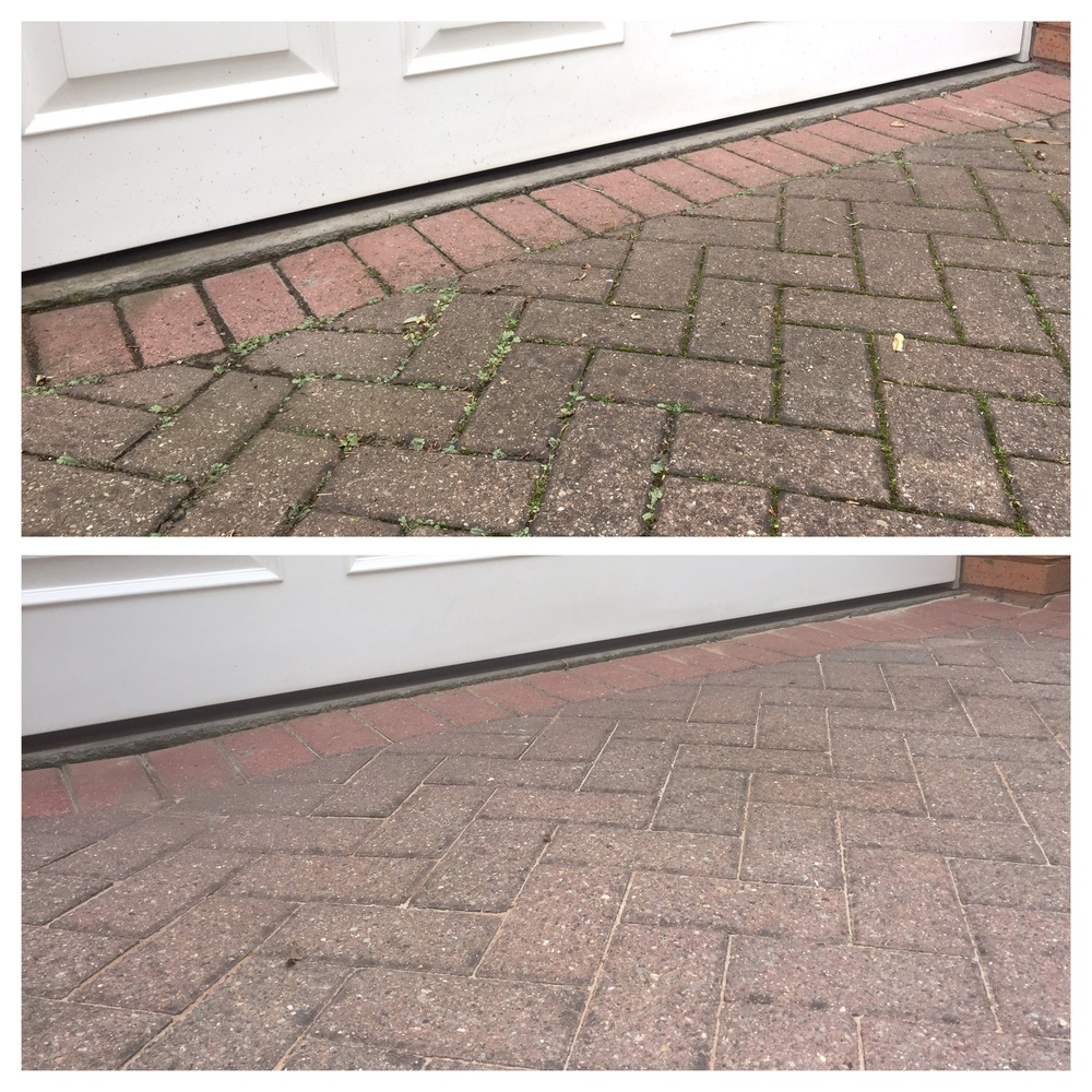 Pressure washing to block paving in Darlington