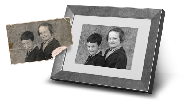 Photo restoration. kinks restored after example