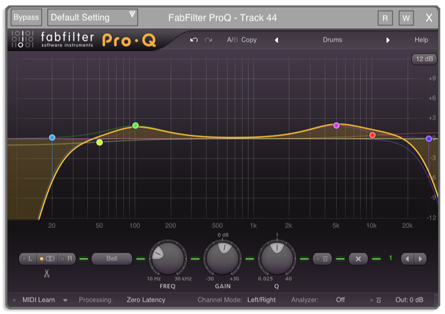 Auria: DAW for iPad with VST support: fabfilter pro plugin