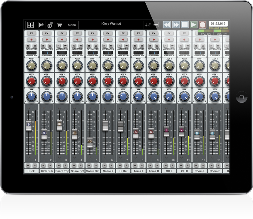 Auria: DAW studio for iPad with VST support