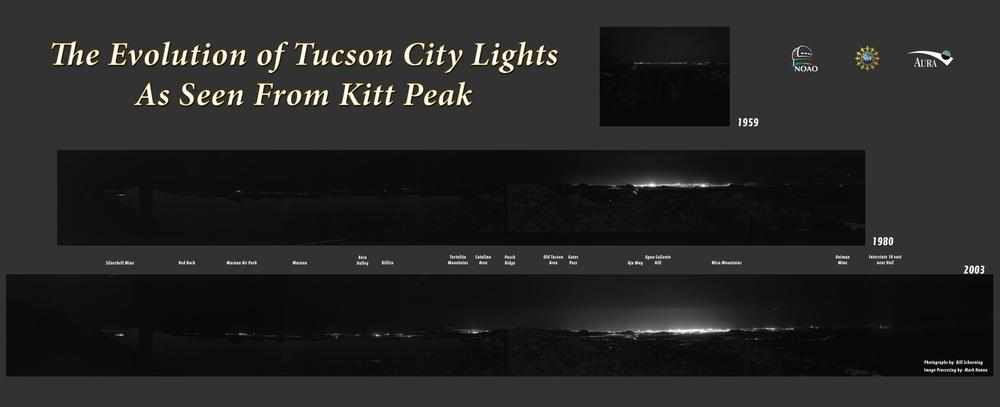 Tuscon as seen from Kitt Peak.  Click to enlarge the image.  (Image Credit: NOAO/AURA/NSF)