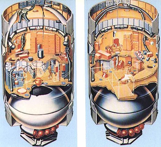 An illustration showing the interior layout of Skylab. (Image credit: NASA)