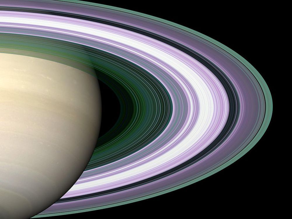 If you visited the rings of Saturn, they wouldn't look like this.  (Image credit: NASA)