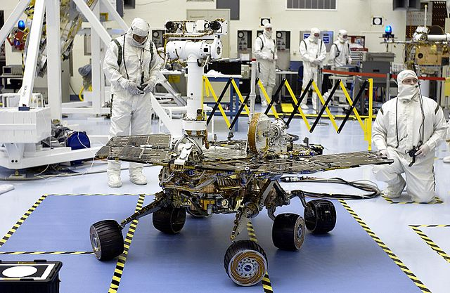 Opportunity prior to launch in 2003.  (Image credit: NASA)