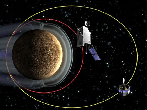 The BepiColombo mission will send a pair of orbiters to Mercury. (Image credit: Max Planck Institute for Solar System Research)