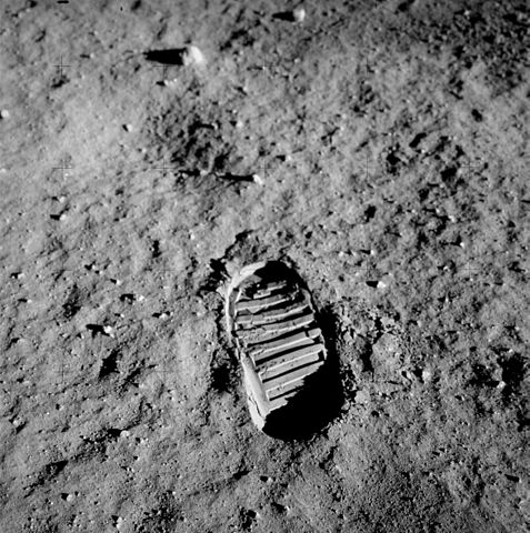 Astronaut Buzz Aldrin's bootprint is likely still on the surface of the Moon.  Will we leave it in peace?  (Image credit: NASA)