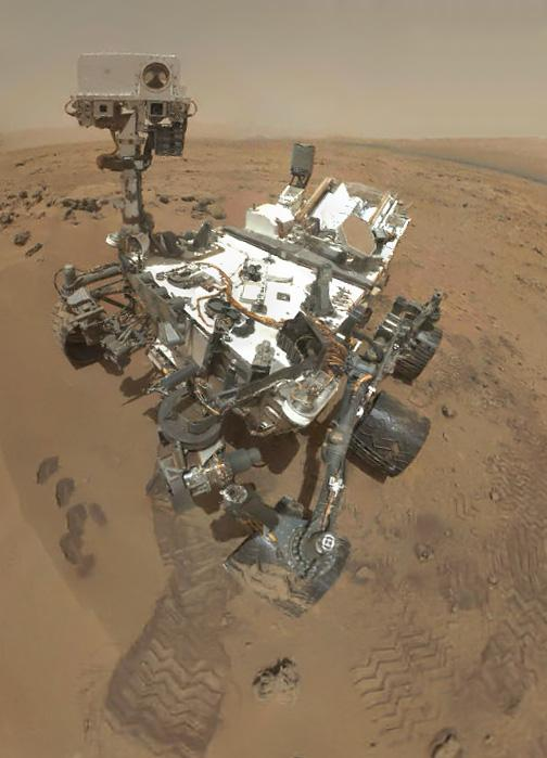 The Mars Science Laboratory has now spent one year roving the red planet.  (Image credit: NASA)
