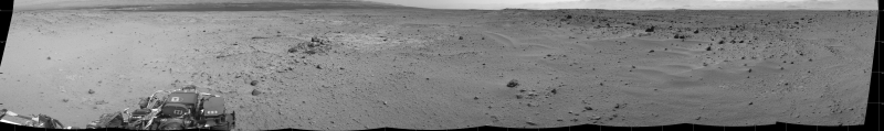 This is the view Curiosity uses to determine a safe path.  (Image credit: NASA)