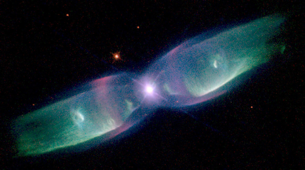 Bipolar planetary nebula M2-9. (Image credit: NASA/ESA)