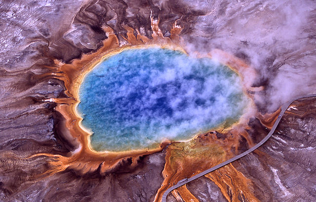 Features like the Grand Prismatic Spring could host life that may most closely resemble what we hope to find on other worlds.  (Image credit: National Park Service)