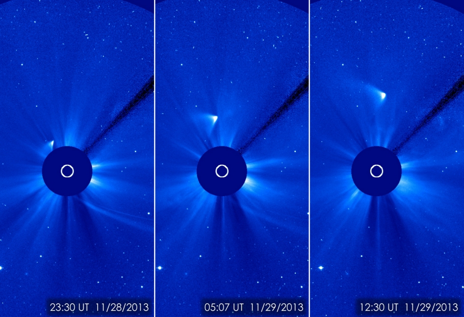 Comet ISON as seen after its close approach to the SUn.  (Image credit: ESA/NASA/SOHO/GSFC)
