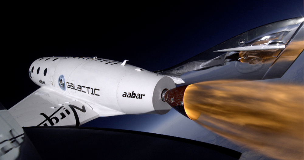 SpaceShipTwo makes another powered test flight.  But will normal people ever be able to afford to get onboard? (Image credit: Virgin Galactic)