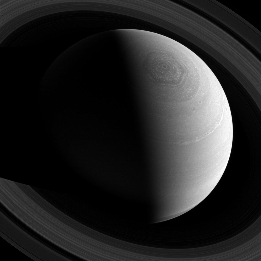Saturn's nearly-perfect hexagon is one of the most beautiful sights in the solar system.  (Image credit: NASA)